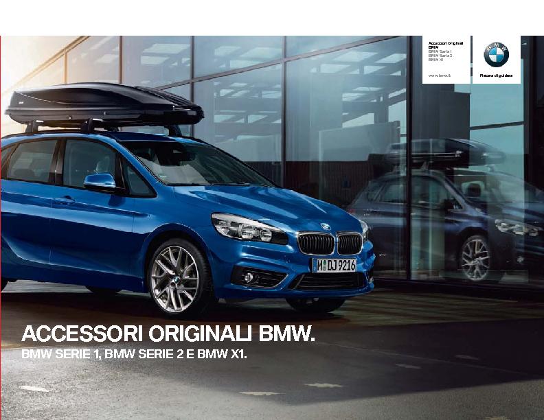 Accessori Originali BMW per BMW SERIE 1 BMW SERIE 2 e BMW X1