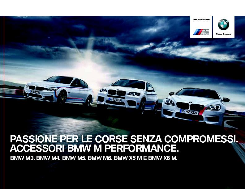 Catalogo Accessori Originali BMW M Performance modelli M