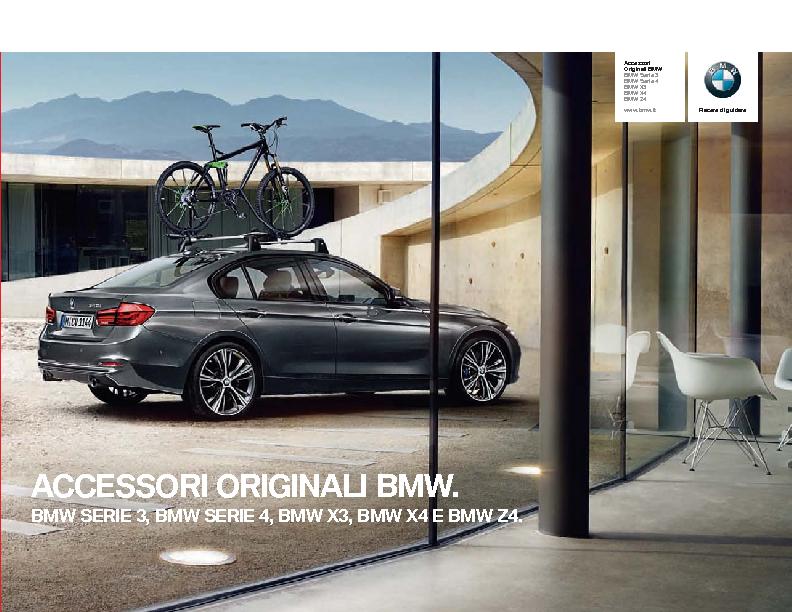 Catalogo Accessori Originali BMW Serie3 4 X3 X4 Z4