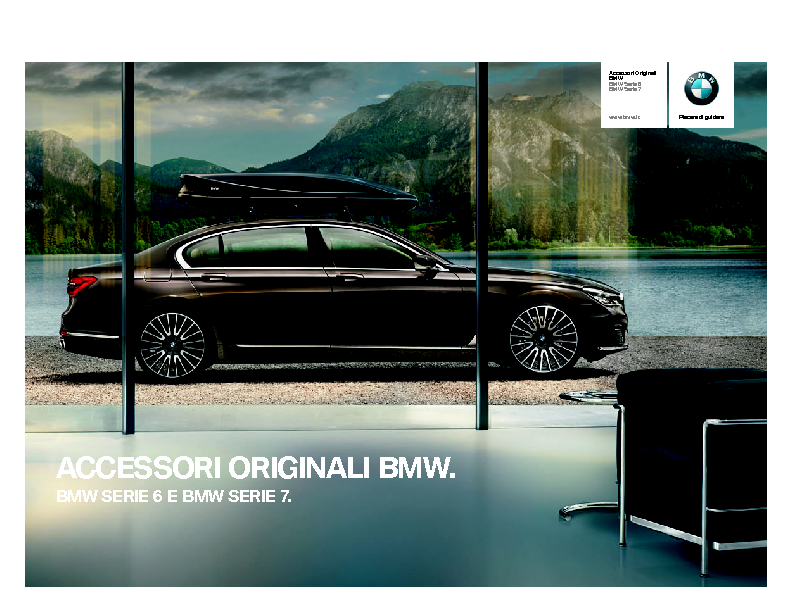 Catalogo Accessori Originali BMW Serie 6 Serie 7