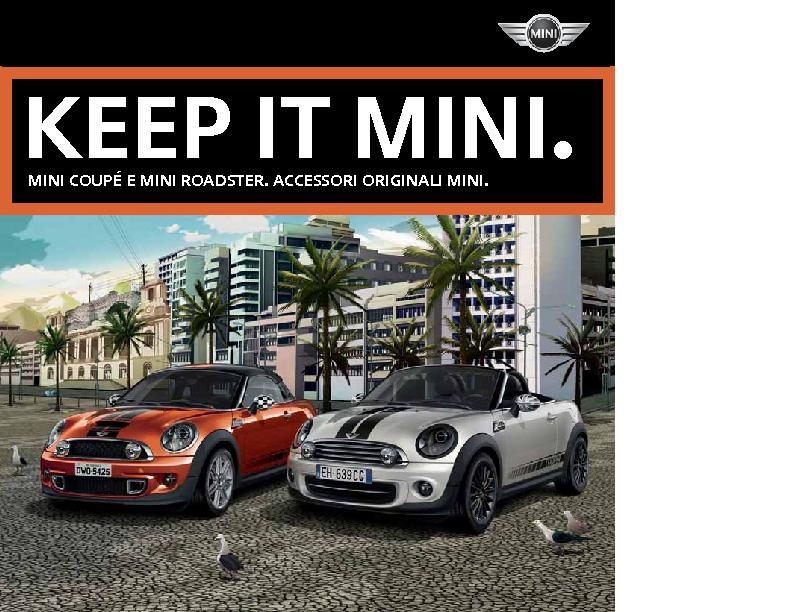 Catalogo Accessori Originali MINI Coupe e Roadster