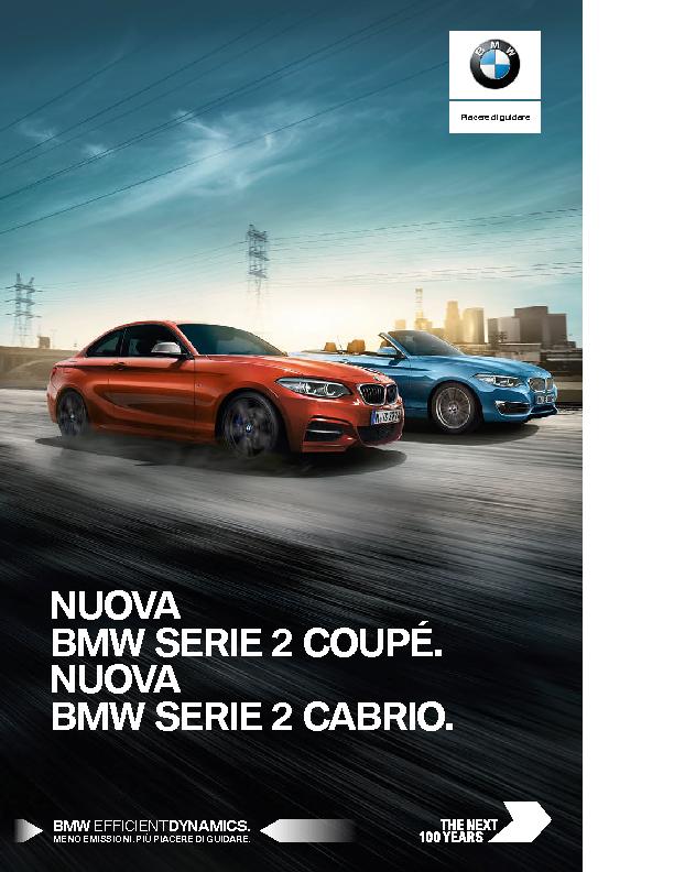 Catalogo BMW Serie2 cabrio coupe