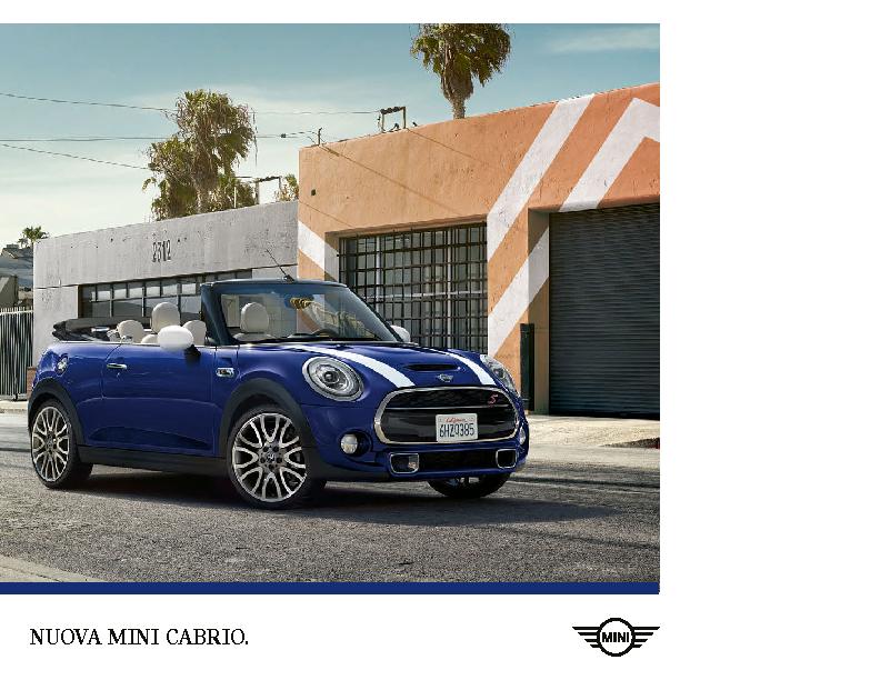 Catalogo MINI Cabrio