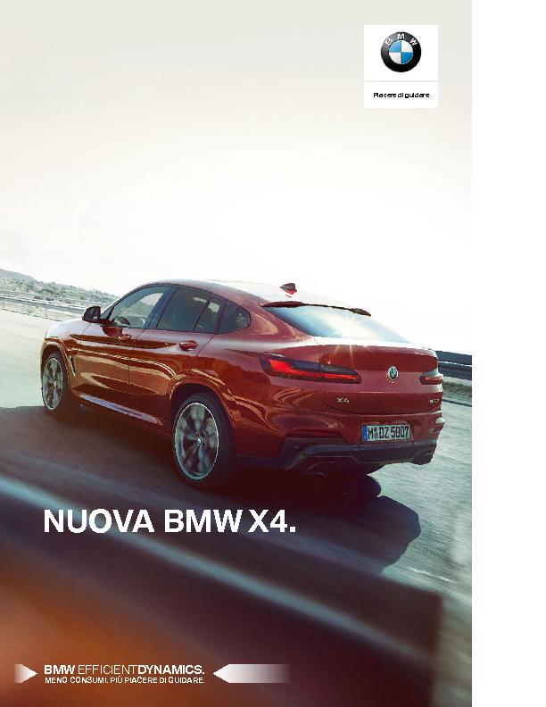 Catalogo  Nuova BMW X4